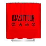 Led Zeppelin Z O S O - Transparent T-shirt Background Shower Curtain