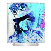 Legendary Aerosmith Watercolor Shower Curtain