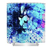 Legendary Alice Cooper Watercolor Shower Curtain