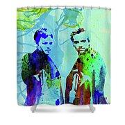 Legendary Boondock Saints Watercolor Shower Curtain