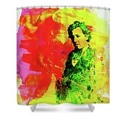 Legendary Bruce Watercolor Shower Curtain