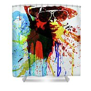 Legendary Fear And Loathing Watercolor Shower Curtain