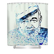 Legendary Hemingway Watercolor Shower Curtain