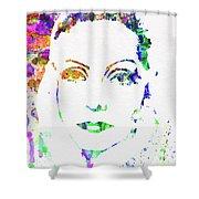 Legendary Ingrid Bergman Watercolor Shower Curtain