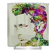 Legendary James Dean Watercolor Shower Curtain
