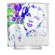 Legendary Judy Garland Watercolor I Shower Curtain