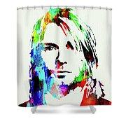 Legendary Kurt Cobain Watercolor Shower Curtain
