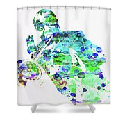 Legendary Louis Armstrong Watercolor  Shower Curtain