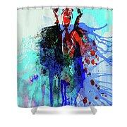 Legendary Mick Jagger Watercolor Shower Curtain