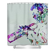 Legendary Miles Davis Watercolor Shower Curtain