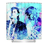 Legendary Pulp Fiction Watercolor Shower Curtain