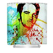 Legendary Quentin Watercolor I Shower Curtain