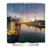 Leixoes Harbour Shower Curtain