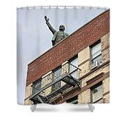 Lenin Statue In East Village N Y C Shower Curtain