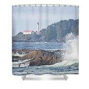 Lennard Island Lighthouse 2 Shower Curtain by Randy Hall