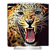 Leopard 2 Shower Curtain