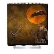 Leopards No 01 Shower Curtain