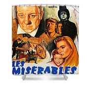 Les Miserables 1958 French Movie Classic Shower Curtain