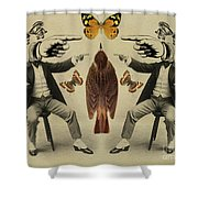 Let The Accusations Fly Shower Curtain