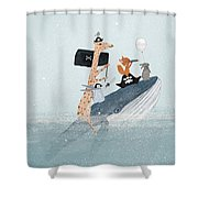 Lets Play Pirates Shower Curtain