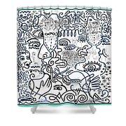 Let's Talk Art #02 Shower Curtain