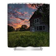 Letters From Home Shower Curtain
