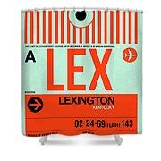 Lex Lexington Luggage Tag I Shower Curtain