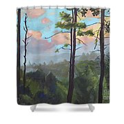 Lifting My Soul At Pink Knob - In Elliay Shower Curtain