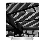 Light And Shadow Abstract Shower Curtain