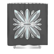 Light Blue Gray Tile Shower Curtain