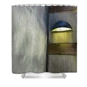 Light In Corner Shower Curtain