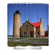Lighthouse - Mackinac Point Michigan Shower Curtain