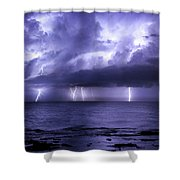 Lighting Sea Shower Curtain