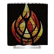 Lighting The Way - Wayland Kaltwasser Flame Shower Curtain