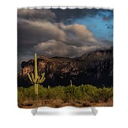 Light Play On The Superstitions  Shower Curtain