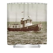 Lil Tugboat Shower Curtain by Charles McKelroy