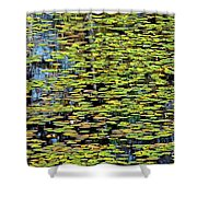 Lilly Pond Painting Shower Curtain
