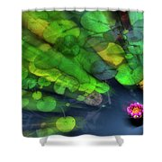 Lily Rush Shower Curtain by Wayne King