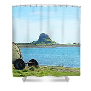 Lindisfarne Castle And Bay Shower Curtain
