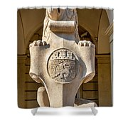 Lion Statue Shower Curtain by Fabrizio Troiani