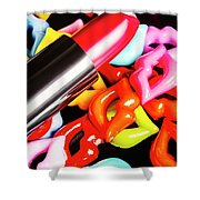 Lip Stack Shower Curtain