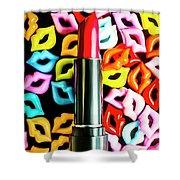Lipstick Lips Shower Curtain