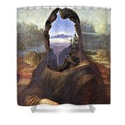 Lisa With A View Shower Curtain