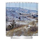 Little Missouri Winter Prairie Shower Curtain