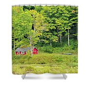 Little Red House Shower Curtain