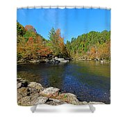 Little River From Little River Gorge Road At Townsend Entrance Shower Curtain