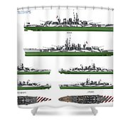 Littorio Class Battleships Shower Curtain