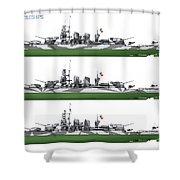 Littorio Class Battleships Port Side Shower Curtain