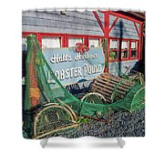 Lobster Pond Restaurant In Halls Harbour Ns Shower Curtain