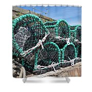 Lobster Pots Shower Curtain
